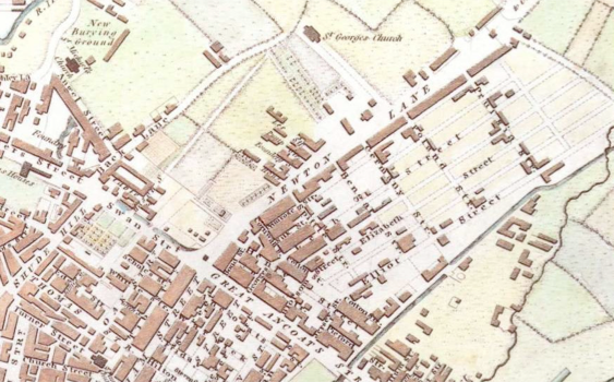 Figure 1 - Manchester, ca.1801, Cole and Roper (Manchester City Archives)