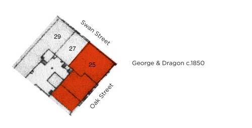 Figure 10 – The second expansion of the George & Dragon, annexing the next adjacent property in Oak Street