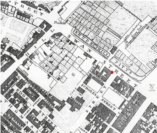 Figure 6 – Extract of Green's Map of Manchester, 1787-94 (Manchester Archives & Local Studies)
